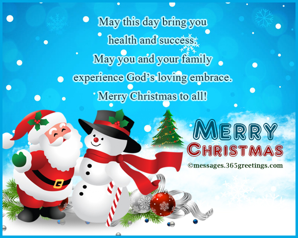 Merry Christmas Card Messages And Christmas Greetings Phrases
