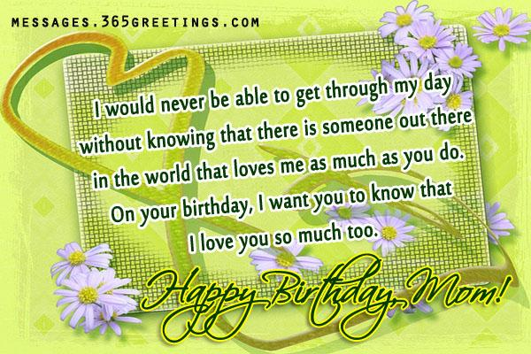 Birthday Wishes for Son 365greetings – Birthday Greetings to My Mom