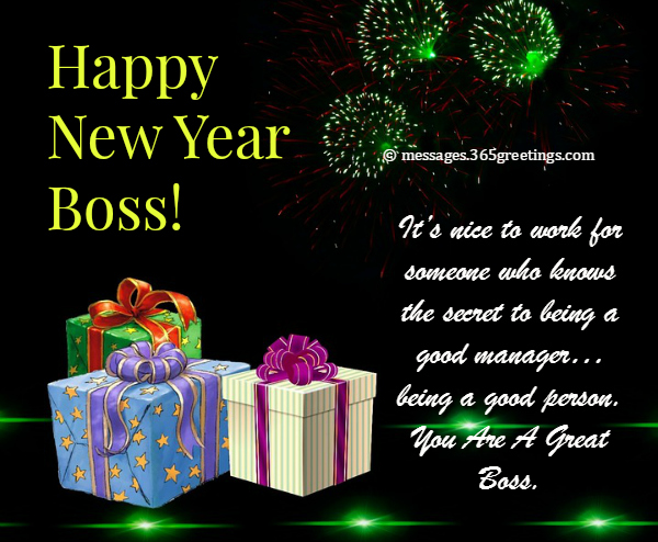 what to write in a new year card for boss