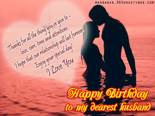 Birthday wishes for husband 365greetings romantic birthday wishes for husband m4hsunfo
