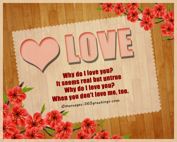 Why Do I Love You? It Seems Real But Untrue. Why Do I Love You? When You  Donu0027t Love Me, Too.