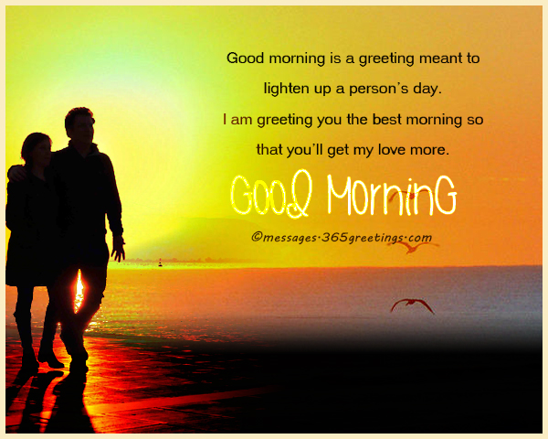 Good Morning Messages for your love