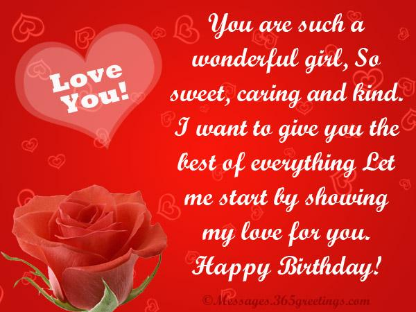 Sweet Romantic Love Birthday Messages