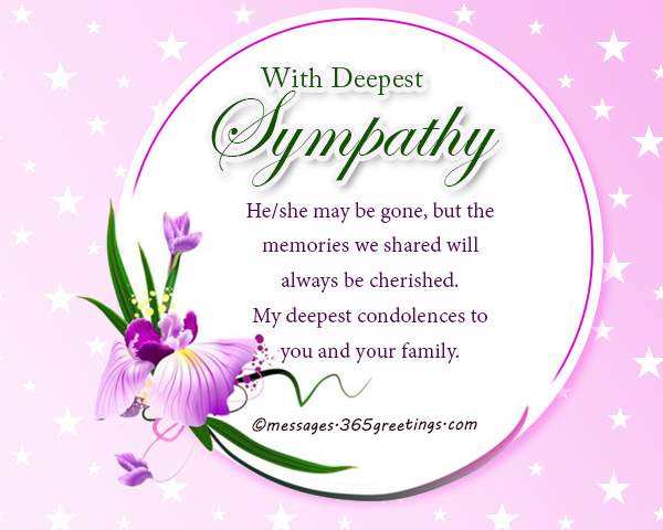 Sympathy Messages And Wishes  GreetingsCom