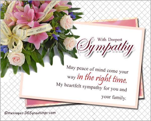 Sympathy messages and wishes 365greetings sympathy messages for your dears m4hsunfo