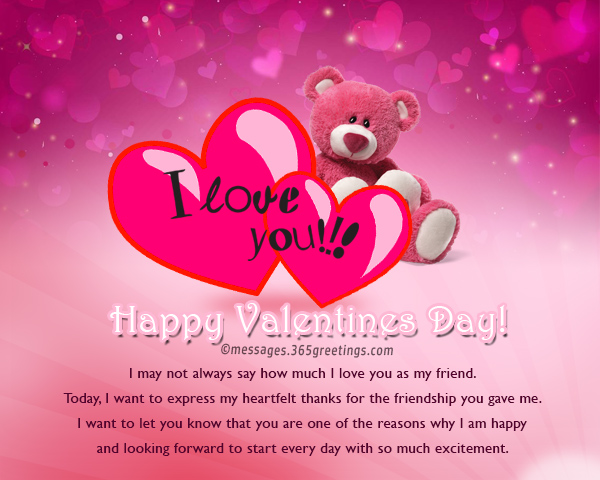 Valentines Day Messages For Friends 365greetingscom