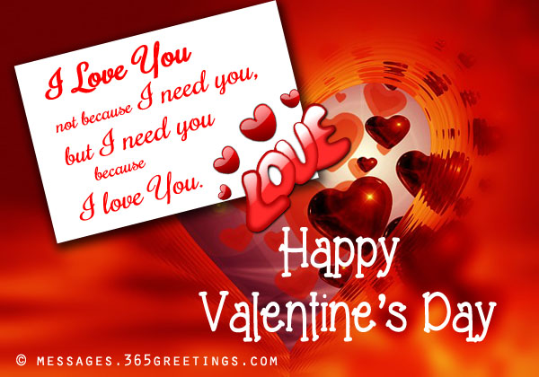 Valentines Day Messages for Boyfriend and Husband 365greetings – Valentine Day Cards Messages