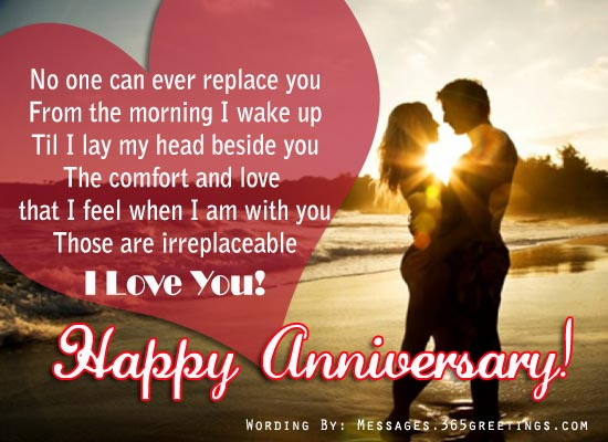 Wedding anniversary messages for wife greetings