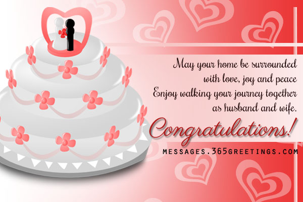 Nice Wedding Gift Message : wedding congratulations messages messages greetings and wishes