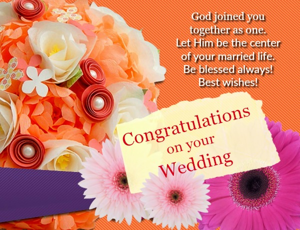 islamic wedding congratulation messages