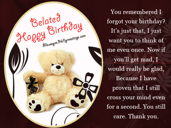 Belated Birthday Greeting Card Messages