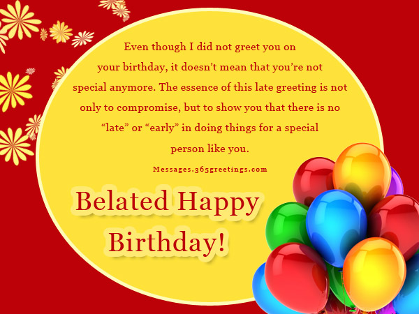 Belated Birthday Wishes Greetings And Messages