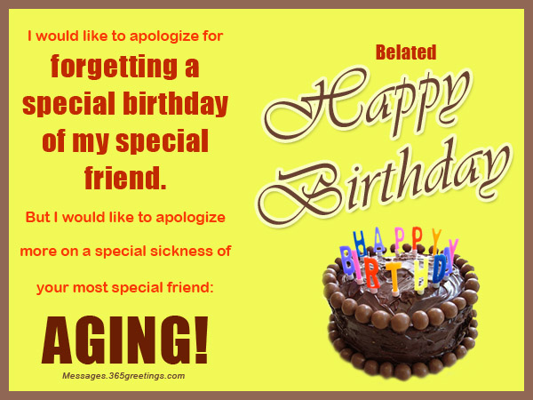 Belated Birthday Wishes Greetings And Belated Birthday Messages – Late Birthday Card Messages