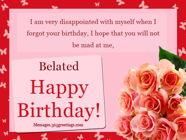 Belated Birthday Wishes Greetings