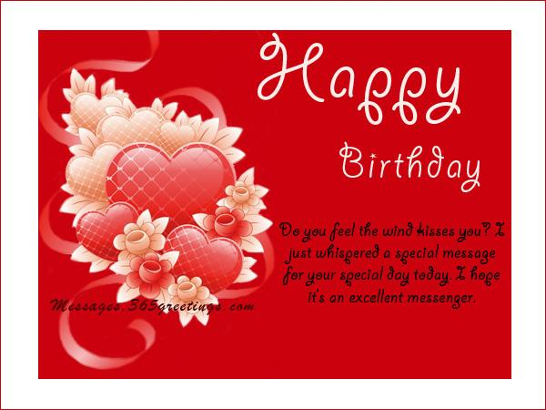 Birthday Wishes And Messages Messages Greetings and Wishes – Birthday Greetings to a Lover