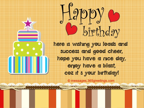 Birthday Card Messages And Card Wordings 365greetings Com
