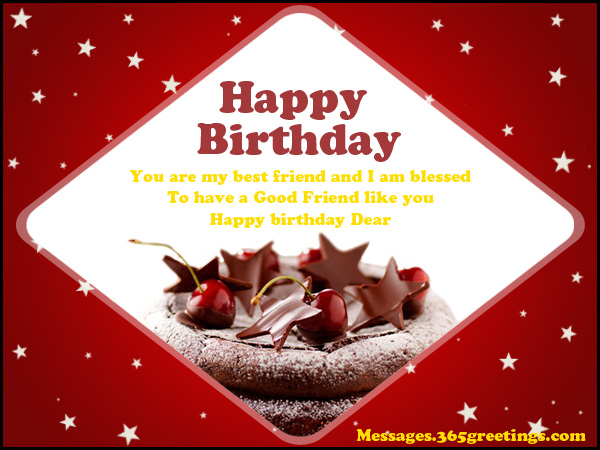 Happy Birthday Message Good Friend ~ Birthday messages for friends greetings