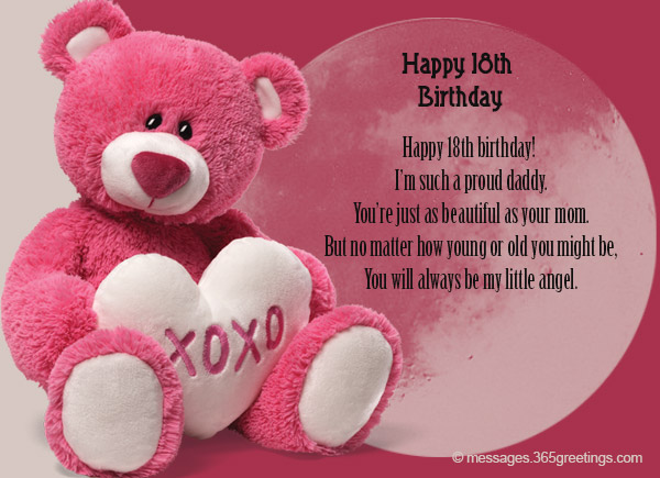 18th Birthday Messages For Daughter Happy