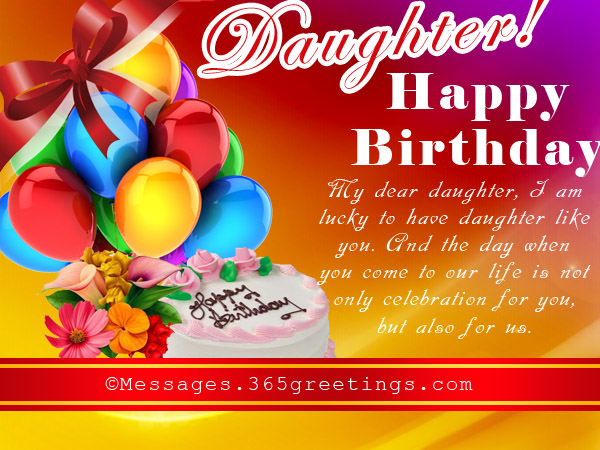 Birthday Wishes for Daughter 365greetings – Happy Birthday Cards to My Daughter