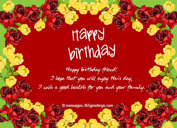 Birthday Wishes For A Friend 365greetings – Happy Birthday Wishes Greetings for Friends