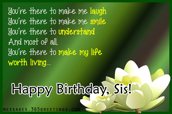 Birthday wishes For Sister that warm the heart 365greetings – Funny Birthday Greetings for Sister