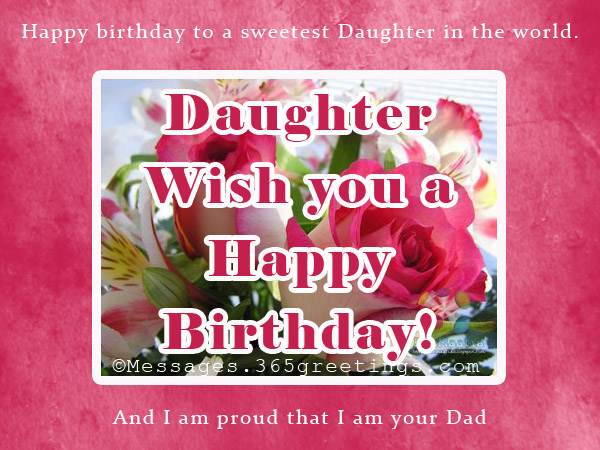 Dad Birthday Messages For Daughter