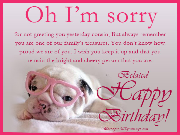 Belated birthday wishes greetings and belated birthday messages funny belated birthday messages m4hsunfo