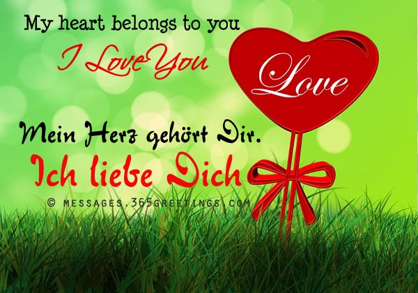 Love Quotes For Him In German : How to Say I Love You in German, Words of Love in German - Messages ...