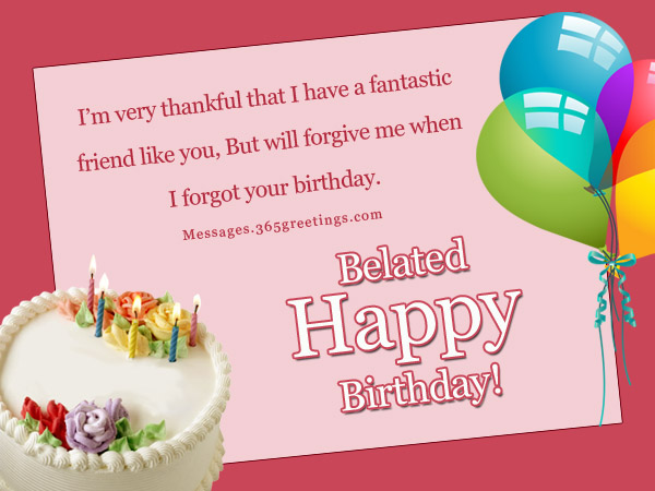 belated birthday wishes greetings and belated birthday messages, Greeting card