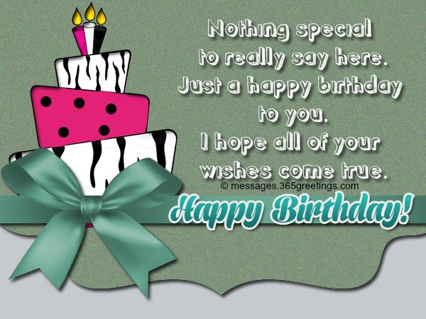 special birthday card messages and wishes - Special Birthday Cards
