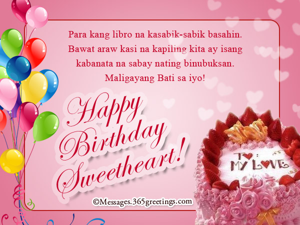 Tagalog birthday messages for girlfriend 365greetings happy birthday in tagalog for your girlfriend m4hsunfo