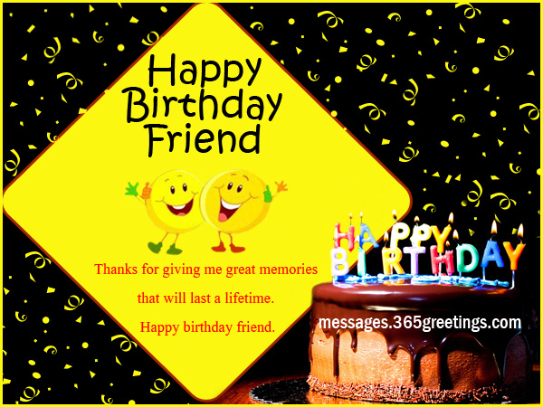 Best 100 Birthday Wishes For Friend 365greetings – Friend Birthday Card Messages