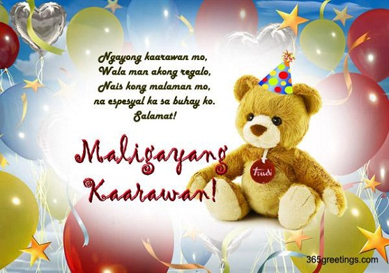 Happy Birthday in Tagalog