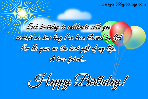 Birthday Wishes For A Friend 365greetings – Happy Birthday Card Message