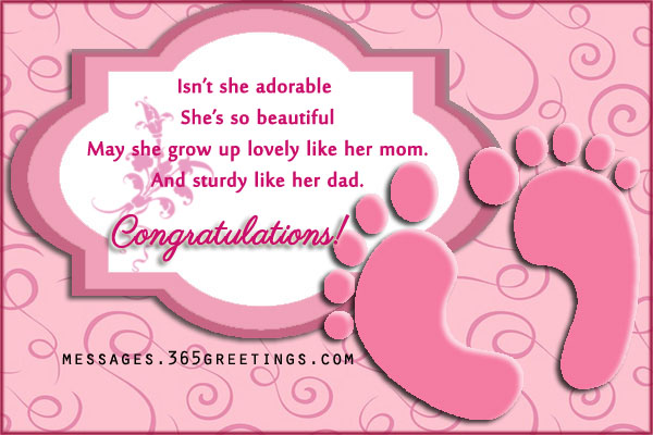 New Baby Wishes And Messages 365greetingscom