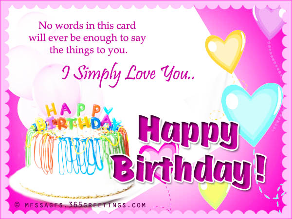 Birthday card messages and card wordings 365greetings romantic birthday card messages bookmarktalkfo Gallery