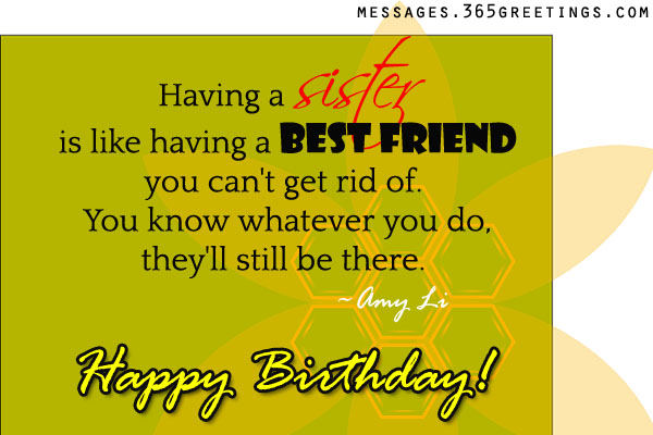 Birthday wishes for sister that warm the heart 365greetings birthday wishes for younger sister m4hsunfo