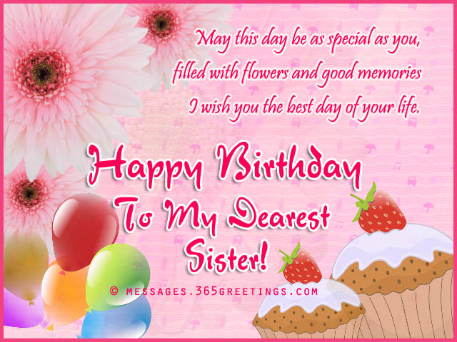 Birthday wishes for sister that warm the heart 365greetings birthday greetings for sister m4hsunfo