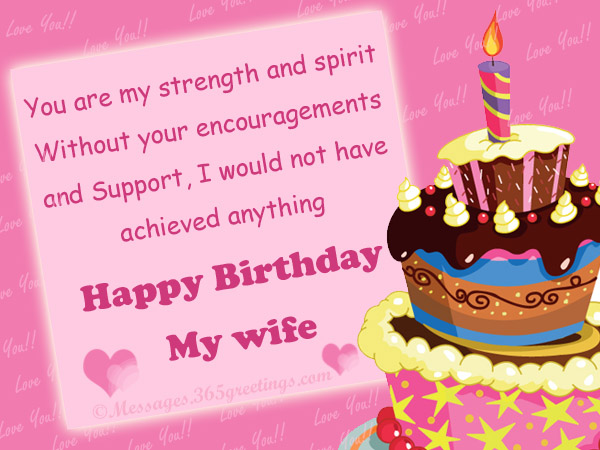 Happy Birthday Wishes for your Wife