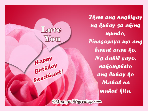 tagalog birthday greetings for girlfriend