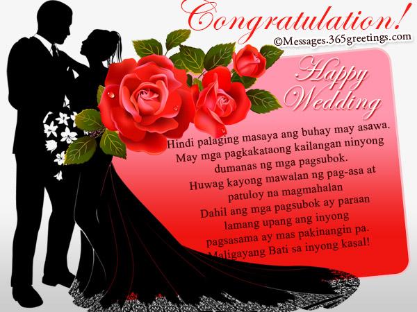 Tagalog Wedding Wishes - 365greetings com