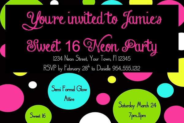 16th Birthday Party Invitations