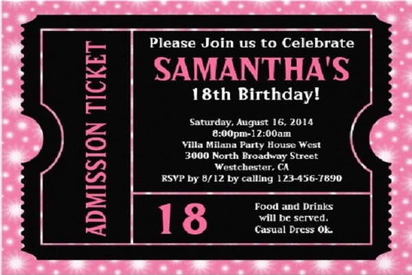 18Th Birthday Party Invitations is an amazing ideas you had to choose for invitation design