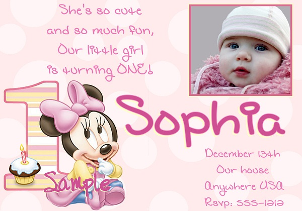1st birthday invitation minnie mouse 365greetings 1st birthday invitation minnie mouse stopboris Images