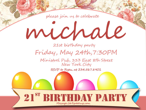 21st Birthday Invitations 365greetings – 21st Birthday Invitations Ideas
