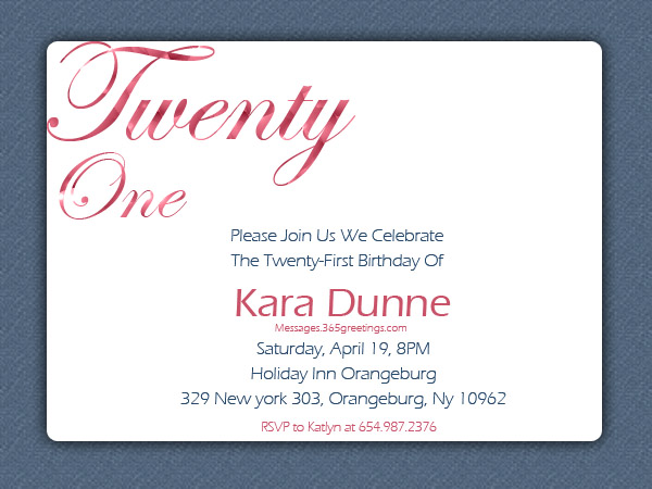 st birthday invitations  messages, greetings and wishes, Birthday invitations