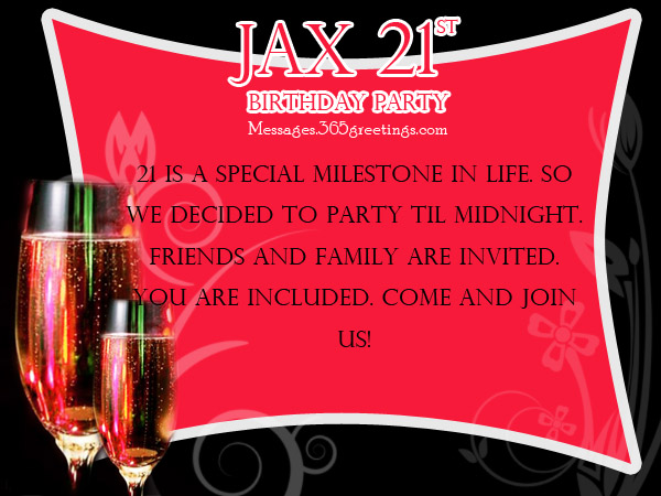 21st Birthday Party Invitations For Boy