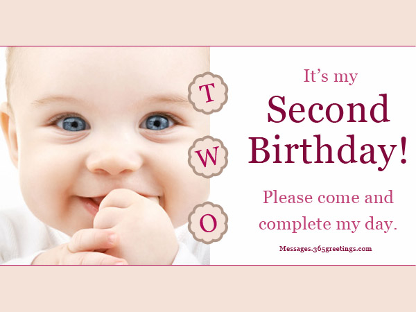 2nd Birthday Invitations And Wording 365greetings – Baby First Birthday Invitation Message
