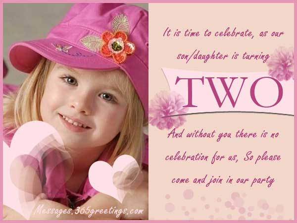 Nd Birthday Invitations And Wording Greetingscom - Birthday invitation message for 2 year old