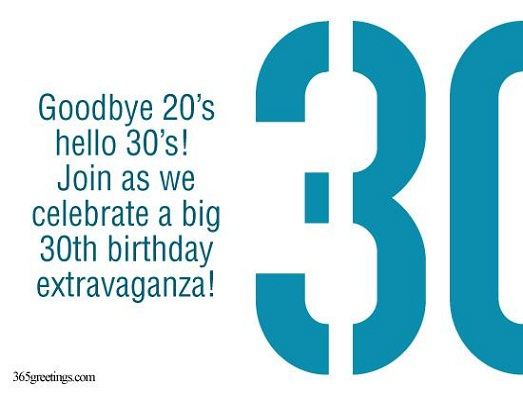 30th birthday invitation wording 365greetings 30th birthday invitations stopboris Choice Image